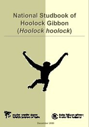National Studbook of Hoolock Gibbon - Central Zoo Authority