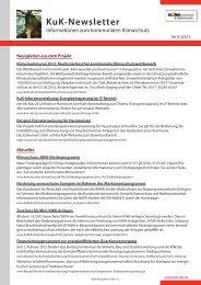 KuK-Newsletter - KuK Klimawandel und Kommunen