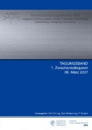 des Tagungsbands - SFB 666 - Technische Universität Darmstadt