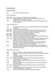 Herbert Birkhofer Curriculum Vitae Born 08.11.1945 in Augsburg ...
