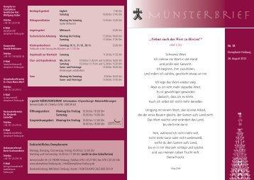 Münsterbrief 18 - Stadtdekanat