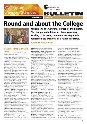 Phys Science Bulletin Mar07 - University of Aberdeen