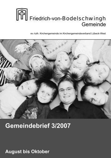 Gemeindebrief 3/2007 - Bodelschwingh-Gemeinde Lübeck
