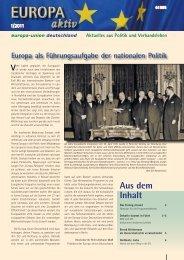 Ausgabe 1-2011 - Europa-Union Deutschland e.V.