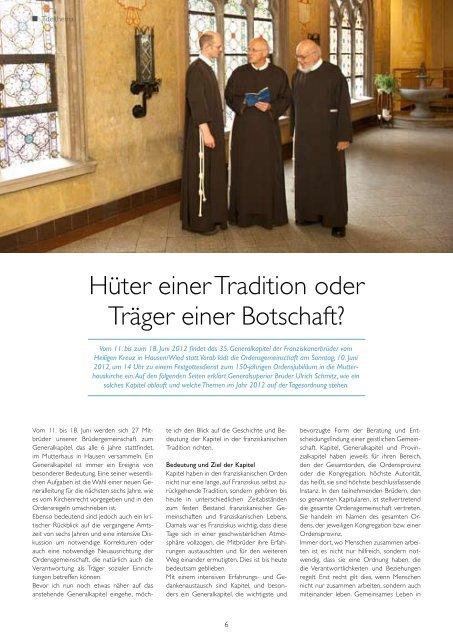 Das Generalkapitel im Jubiläumsjahr: - Franziskanerbrüder vom ...