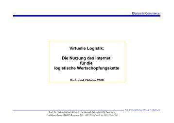 Virtuelle Logistik - Prof. Dr. Heinz-Michael Winkels