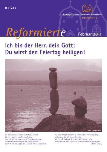 Gemeindeblatt Februar 2011 - Evangelisch-reformierte Gemeinde ...