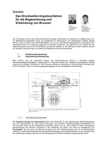Das Druckwellen-Impulsverfahren für die ... - em-bohr.de