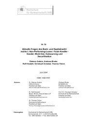 Aktuelle Fragen des Bank - Frankfurt School of Finance ...