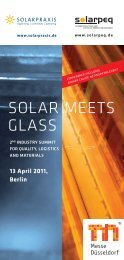 SOLAR MEETS GLASS - Solarpraxis