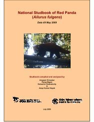 National Studbook of Red Panda - Central Zoo Authority