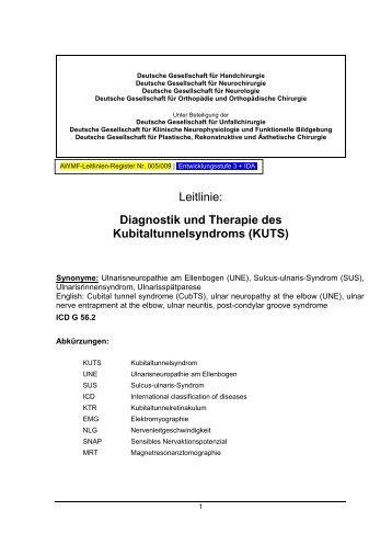 Diagnostik und Therapie des Kubitaltunnelsyndroms ... - Arztbibliothek