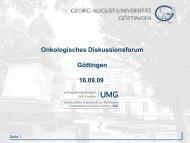 Onkologisches Diskussionsforum 16.09.2009 - Hämatologie und Onkologie