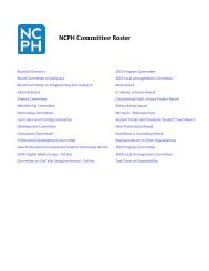 NCPH Committee Roster - National Council on Public History