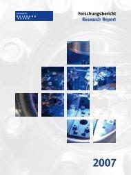 Forschungsbericht Universität Duisburg-Essen 2007 - Institut für ...