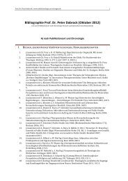 Bibliographie Prof. Dr. Peter Dabrock (Oktober 2012) - Lehrstuhl für ...