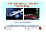 Was treibt den ICE3 und den TRANSRAPID? - Institut für Elektrische ...