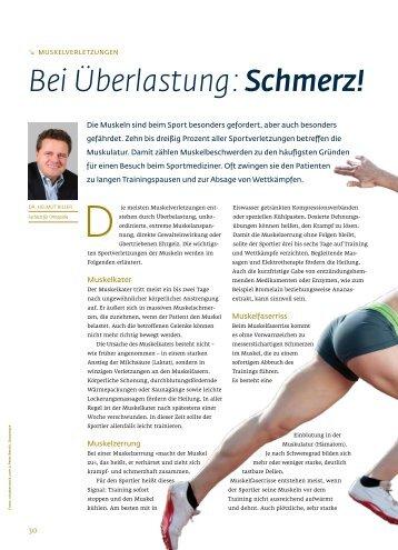 Bei Ãœberlastung: Schmerz Dr. Helmut Biller - Regensburger ...