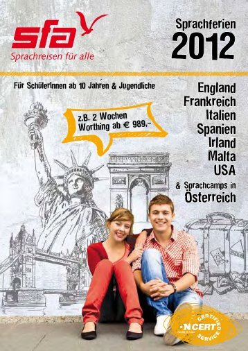 Sprachferien für Jugendliche 2012 - SFA Sprachreisen