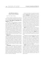PDF - Anadolu Kardiyoloji Dergisi