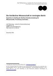 Die Ost-Berliner Wissenschaft im vereinigten Berlin - Peer Pasternack