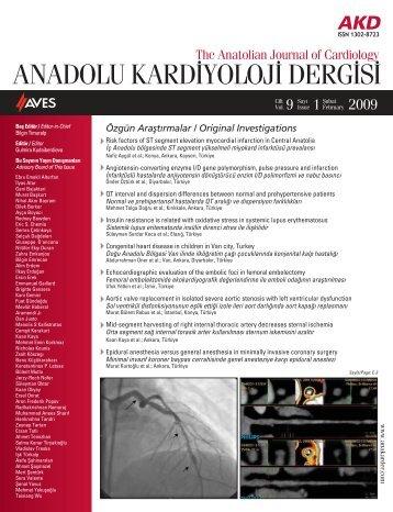 ANADOLU KARDİYOLÜJ İ DERGİSİ - Anadolu Kardiyoloji Dergisi
