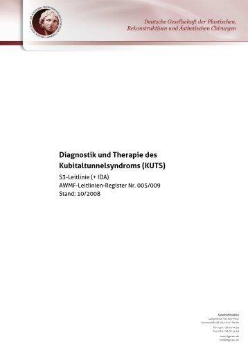 Diagnostik und Therapie des Kubitaltunnelsyndroms (KUTS)
