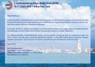 2. Epidemiyoloji ve Salgın Analizi Kursu (ESAK) 16-17 ... - EKMUD