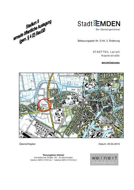 Bebauungsplan Nr. D 44, 3. Änderung STADTTEIL ... -  Stadt Emden