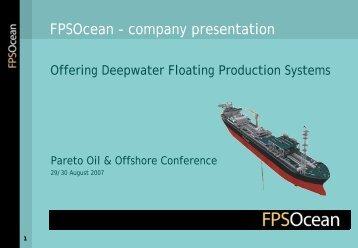 FPSOcean - company presentation
