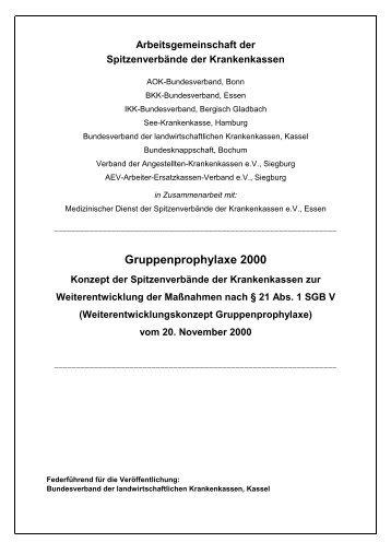 Gruppenprophylaxe 2000 - GKV-Spitzenverband