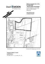 """Bebauungsplan Nr. D 151, IV. Abschnitt """"Photovoltaik ... - Stadt Emden"""