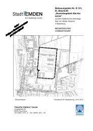 BP D 151 III Abschnitt Gewerbe - Stadt Emden