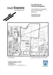 64. Änderung des Flächennutzungsplans ... - Stadt Emden