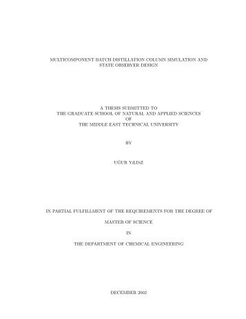 Master thesis middle east