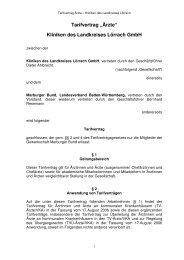 """Tarifvertrag """"Ärzte"""" Kliniken des Landkreises ... - Marburger Bund"""