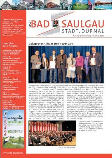 Stadtjournal Ausgabe 2/2013 - Stadt Bad Saulgau