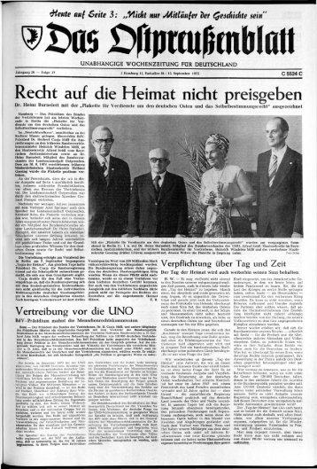 Folge 37 vom 13.09.1975 - Archiv Preussische Allgemeine Zeitung