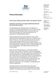 Presse-Information - Herzlich Willkommen bei Drei Kronen Catering