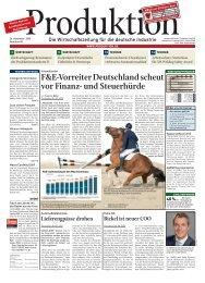 F&E-Vorreiter Deutschland scheut vor Finanz- und ... - Produktion