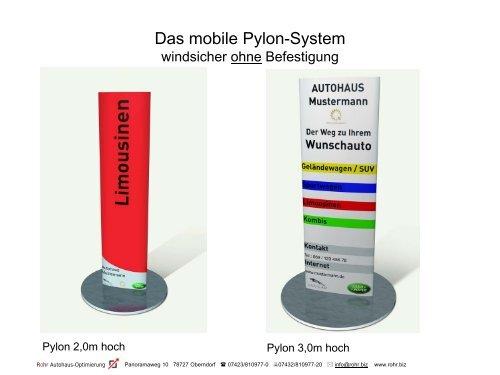 Das Mobile Pylon System Rohr Autohaus Optimierung