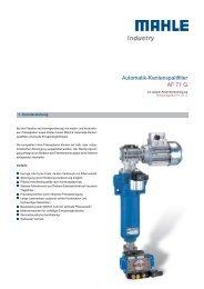 Automatik-Kantenspaltfilter AF 71 G - MAHLE Industry - Filtration