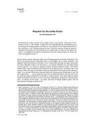 Requiem für die antike Kultur - fowid - Forschungsgruppe ...