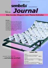 Das Insider-Magazin zum Thema Schlafen Lesen ... - Sembella Gmbh