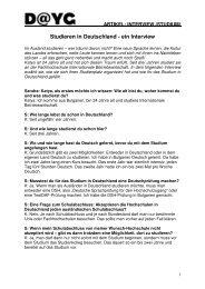 Studieren in Deutschland - ein Interview