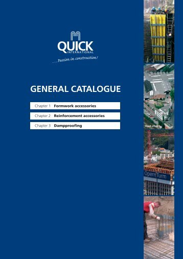 GENERAL CATALOGUE - Quick Bauprodukte GmbH