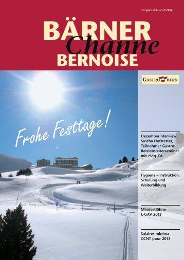 BärnerChanne Dezember 2012 - GastroBern