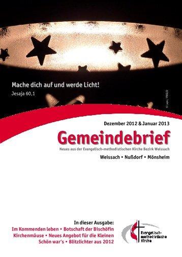 Gemeindebrief 2013.1web - EmK Bezirk Weissach