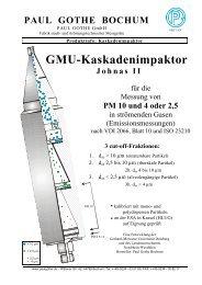 GMU-Kaskadenimpaktor Johnas II - Paul Gothe GmbH