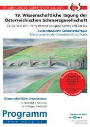 Hauptprogramm - Österreichische Schmerzgesellschaft